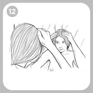 examine su cuero cabelludo